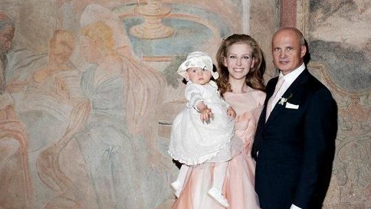 Michal Horáček s novomaželkou a dcerou Julií.