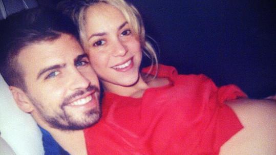 Shakira a Gerard v době, kdy se těšili na první miminko.