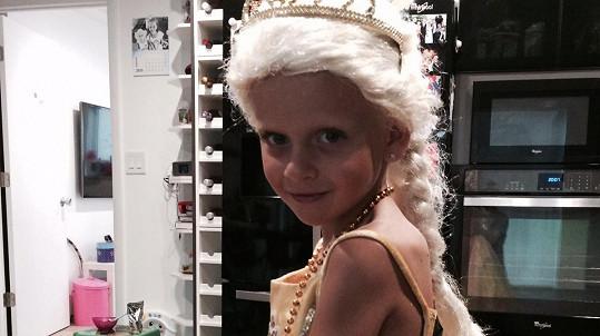 Dcera i v Česku oblíbené slovenské moderátorky v kostýmu princezny