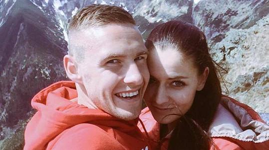 Tereza Chlebovská a Pavel Kadeřábek jsou moc krásný pár.