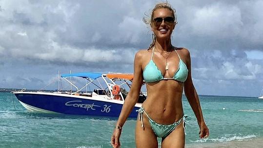 Simona Krainová je opět v Karibiku