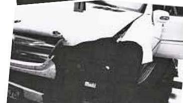 Zdemolované auto Dary Rolins krátce po nehodě.