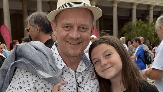 Petr Čtvrtníček s dcerou Annou
