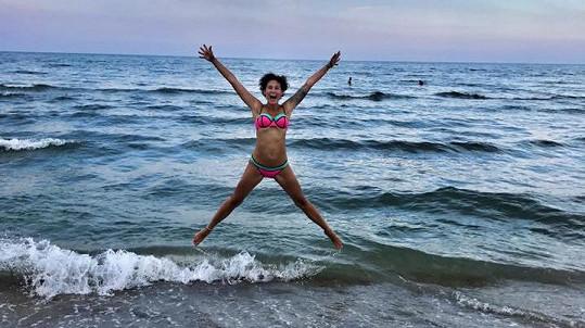 Michaela Salačová na dovolené v Itálii