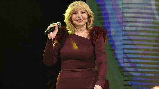 Hana Zagorová na svém vánočním koncertě