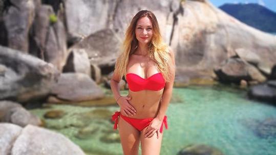 Bára Mottlová na dovolené v Thajsku