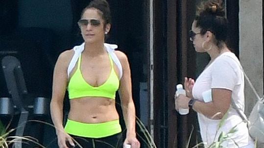 Jennifer Lopez s kamarádkou