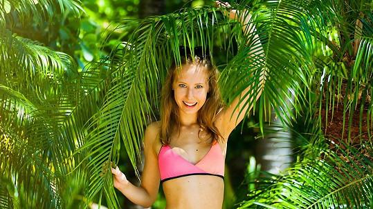 Denisa Grossová v roli modelky
