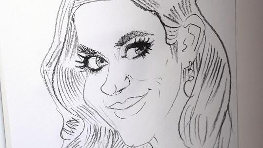 Seriálová herečka jako Barbie.