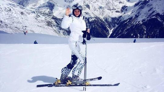 Andrea Verešová lyžování miluje.