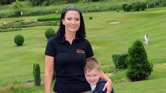 Gábina Partyšová se synem Kristianem