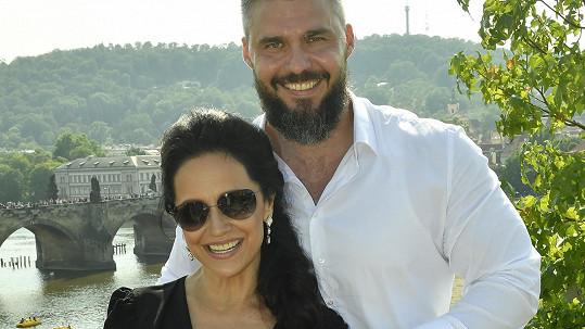Lucie Bílá s partnerem Radkem Filipim