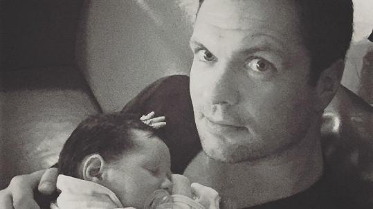Tadeáš Horna s tatínkem