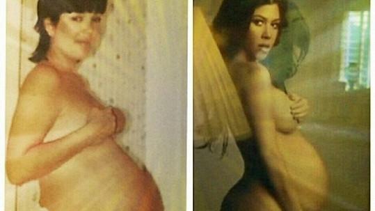 Kourtney poměřovala bříško s matkou Kris Jenner.
