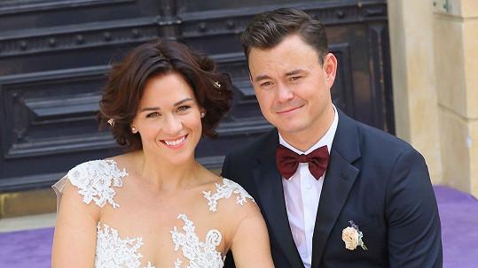 Jiří Hudler s manželkou Hanou...