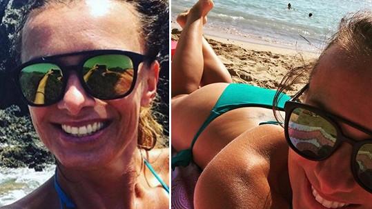 Alice Bendová tráví dovolenou na ostrově Tenerife.