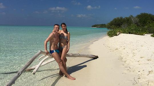 Vladimír Hron si s manželkou Míšou užíval romantiku na Maledivách.