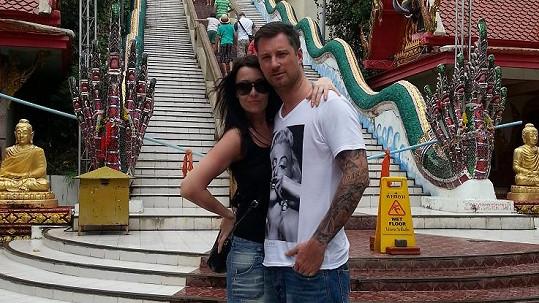 Petr s manželkou na thajském ostrově Koh Samui.