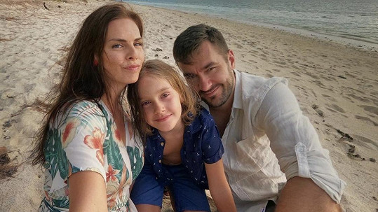 Marek Ztracený s rodinou