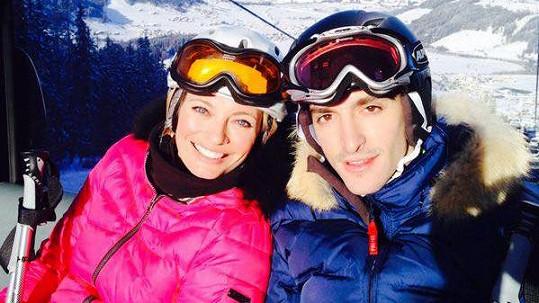 Lucie Borhyová a Michal Hrdlička vyrazili do Alp.