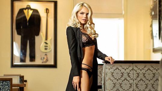 Veronika Stýblová z kapely Verona nafotila snímky ve spodním prádle.