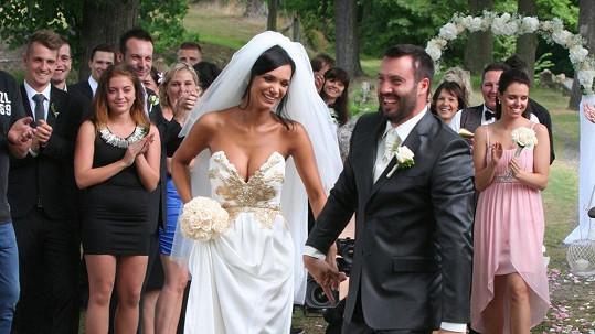 Novomanželé Gábina a Noid Bártovi promluvili o své svatbě.