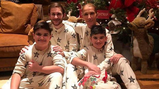 Céline Dion se svými syny