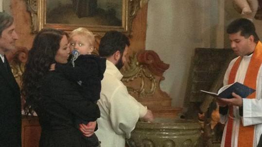 Agáta nechala pokřtít syna.
