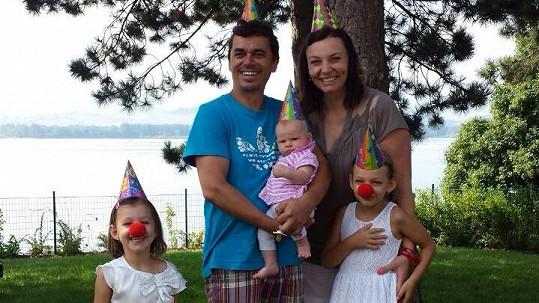 Roman Pomajbo s rodinou