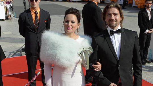 Jitka Čvančarová s manželem Petrem Čadkem.