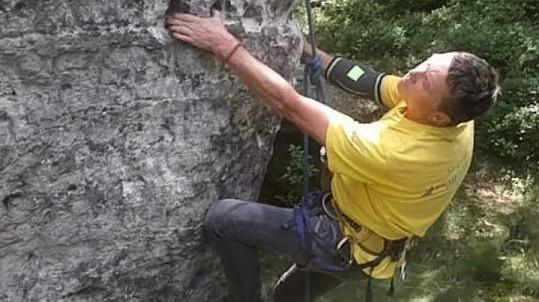 Martin Sitta se věnuje lezení odmalička.