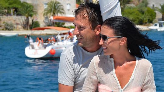 Čerstvě zamilovaná Gabriela Partyšová a jejeí princ Daniel Farnbauer.