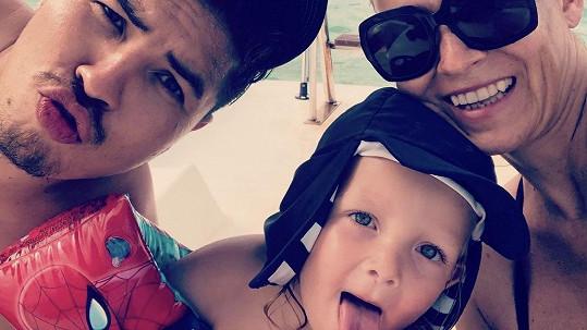 Martina s Marcusem a jejich synem