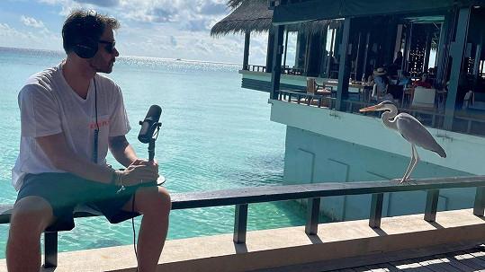 Leoš Mareš na Maledivách