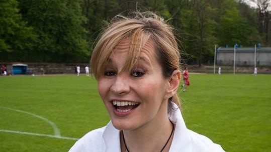 Monika Absolonová si zápas užila.