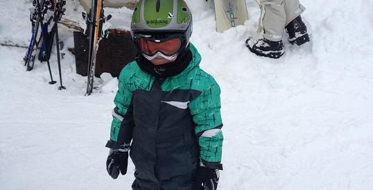Syn rockera Vojtka to umí na lyžích jako profík.