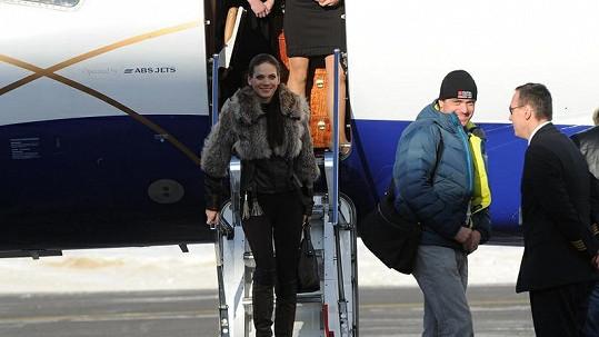 Andrea Verešová letěla soukromým letadlem.