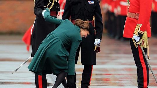 Princezna Catherine vše zvládla s úsměvem a grácií sobě vlastní.