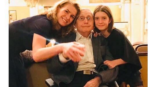 Jiří Menzel s manželkou a dcerou