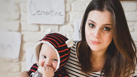 Ornella Koktová se synem Svenem