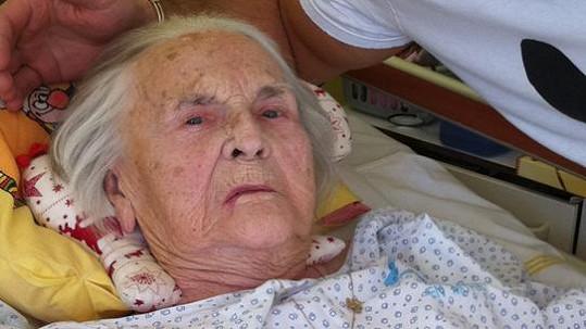 Zita Kabátová na své poslední fotografii při návštěvě Marka Víta.