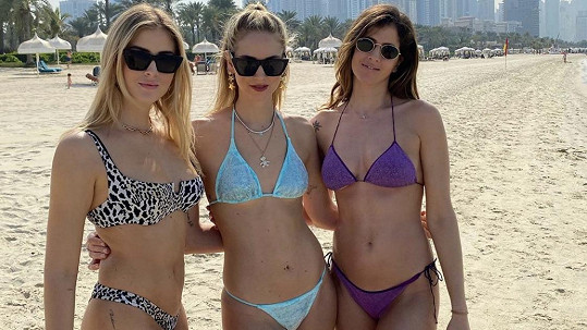 Sestry Chiara, Valentina a Francesca Ferragni