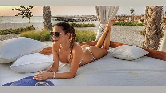 Andrea Verešová vystavila své dokonalé tělo v Řecku.