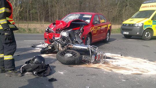 Tomáš Hauptvogel měl včera vážnou nehodu.