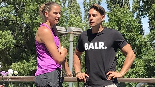 Karolína Plíšková s přítelem Michalem Hrdličkou