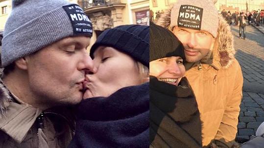 Monika Absolonová se svým snoubencem Tomášem