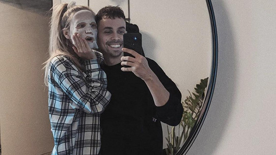 Natálie Kotková s přítelem Petrem Lexou