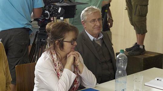 Libuše Šafránková s Karlem Heřmánkem.