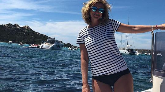Tománková se pochlubila snímky z dovolené.