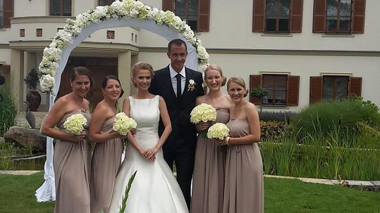 Michaela Ochotská a Lukáš Rosol se dnes vzali.